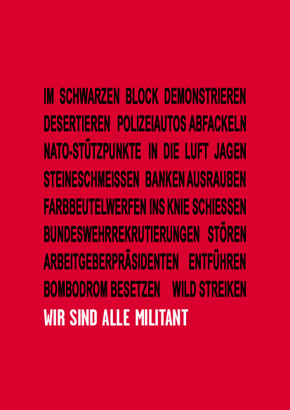 Soli-Plakat Wir Sind Alle Militant