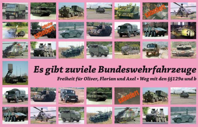 Es gibt zu viele Bundeswehrfahrzeuge