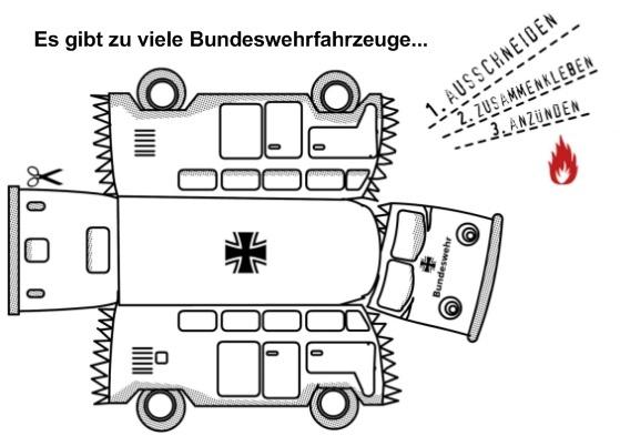 Bausatz: Es gibt zuviele Bundeswehrfahrzeuge